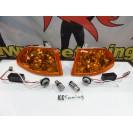 KIT Piscas frontais laranja EuroLook HONDA CIVIC 92-95 2, 3 Portas Com função de mínimo+pisca