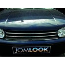 Grelha, JOM premium, VW Golf MK4, chromed rib edges, badgeless (approved)