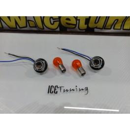 KIT lampadas + sockets para piscas frontais HONDA CIVIC 92-01 Com função de mínimo+pisca LOOK USA