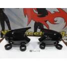 Capas / carcaça de espelhos preto brilhante BMW Serie 1 E81, E82, E87, E88 M1 look LCI