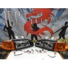 Faróis frontais Honda Civic 92-95 JDM + piscas frontais laranja EuroLook estilo americano (função minimo + pisca led) 4 portas