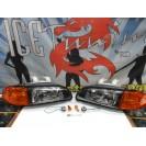 Faróis frontais Honda Civic 92-95 JDM + piscas frontais laranja Euro Look estilo americano (função minimo + pisca) 2 / 3 portas