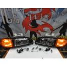 Faróis frontais Honda Civic 92-95 JDM + piscas frontais laranja JDM Look estilo americano (função minimo + pisca led) 4portas