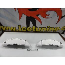 Capas de travao Brembo com tinta de alta temperatura Foliatec branco Brilhante