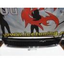 Grelha, JOM, Opel Astra G, black with chrome frame, honeycomb sport look