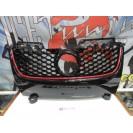 Grelha, JOM, VW Golf 5, GTI look, homey comb mesh, black with red frame line