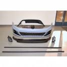 Kit Para-choques Frontal + faróis de nevoeiro + embaladeiras +difusor VW Golf 7 GTI look em plástico