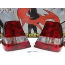 Farois / farolins / lexus traseiros BMW E46 Compact 01-04 fundo vermelho / cristal