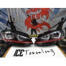 Faróis frontais com luz diurna VW Golf 7 2012-2017 fundo preto GTI LOOK