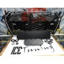 Grelha frontal AUDI A4/S4 B9 15-19 RS4 look com suporte para símbolo cromado e preto brilhante