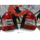 Faróis / farolins Honda Civic EK, EJ 96-00 3 portas Vermelho/Cristal
