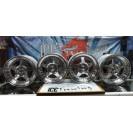 KIT 4 Jantes Originais Japan Racing JR-6 16 x 7´´ 5x100 ET35 cinza prata com aba e face polida