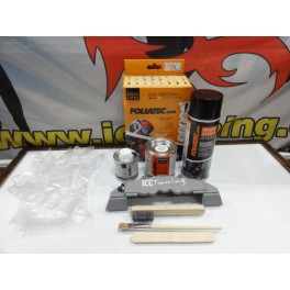 "Tinta alta temperatura Foliatec, cinza ""circuit grey"" metalico brilhante , para bombas / pinças de travão, kit 3c."