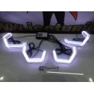 Aros / Argolas Angel Eyes M4 Look CRYSTAL 3D Universal BMW em LED MULTI-COLOR C/WIFI