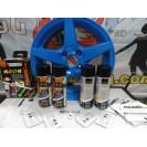 Tinta Plástica, azul neon, kit 4x400ml