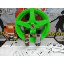 Tinta Plástica, verde neon 2x400ml