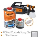 Kit de pintura transparente glossy, máquina + 900 ml Carbody Spray Film + 100 ml thinner