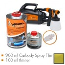 Kit de pintura mostarda verde metalic mate, máquina + 900 ml Carbody Spray Film + 100 ml thinner