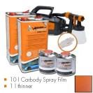 Kit de pintura finest copper metallic matt, máquina + 10 L Carbody Spray Film + 1 L thinner