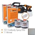 Kit de pintura urban silver metallic matt, máquina + 10 L Carbody Spray Film + 1 L thinner