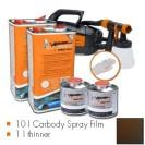 Kit de pintura frozen brown metallic matt, máquina + 10 L Carbody Spray Film + 1 L thinner