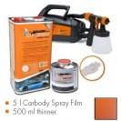 Kit de pintura finest copper metallic matt, máquina + 5 L Carbody Spray Film + 500 ml thinner