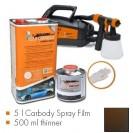 Kit de pintura frozen brown metallic matt, máquina + 5 L Carbody Spray Film + 500 ml thinner