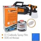 Kit de pintura GT-blue matt, máquina + 5 L Carbody Spray Film + 500 ml thinner