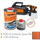 Kit de pintura finest copper metallic matt, máquina + 900 ml Carbody Spray Film + 100 ml thinner