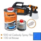 Kit de pintura GT-blue matt, máquina + 900 ml Carbody Spray Film + 100 ml thinner