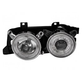 headlights BMW E32 7 Series 88-92 _ 2 halo rims