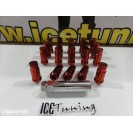 Porcas Lug Nuts Para Honda,Mazda,Etc 45mm 12x1.50 Vermelho Conjunto 20 Unidades