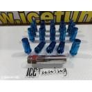 Porcas Lug Nuts Para Honda,Mazda,Etc 45mm 12x1.50 Azul Conjunto 20 Unidades