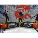 Kit Honda civic 92-95 3 portas, coilovers + farois frontais + piscas + lip
