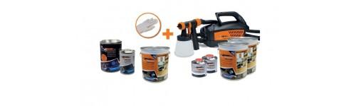 Kit tinta plastica 15L + maquina de pintura