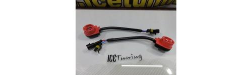 Adaptadores, Fichas, Sockets, suporte de lampada de xenon Resistencias / Acessorios