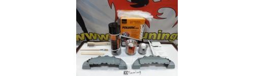 Kit 2 capas medias (24 x 7cm) + tinta alta temperatura