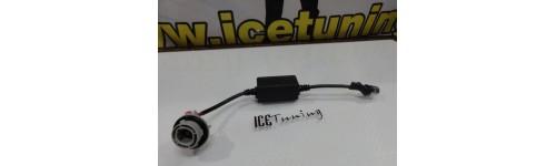 Suportes de lampadas em led, Adaptadores, Fichas, Sockets, suporte de lampada de xenon ou led Resistencias / Acessorios